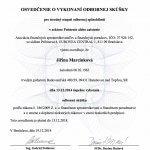 AFISP certifikát poistenie alebo zaistenie