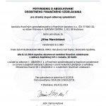 AFISP certifikát kapitalový trh