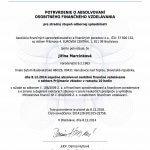 AFISP certifikát vklady